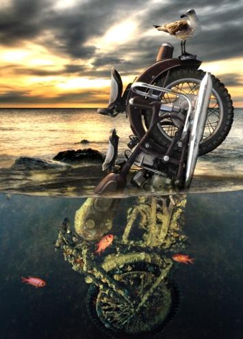 moto en agua